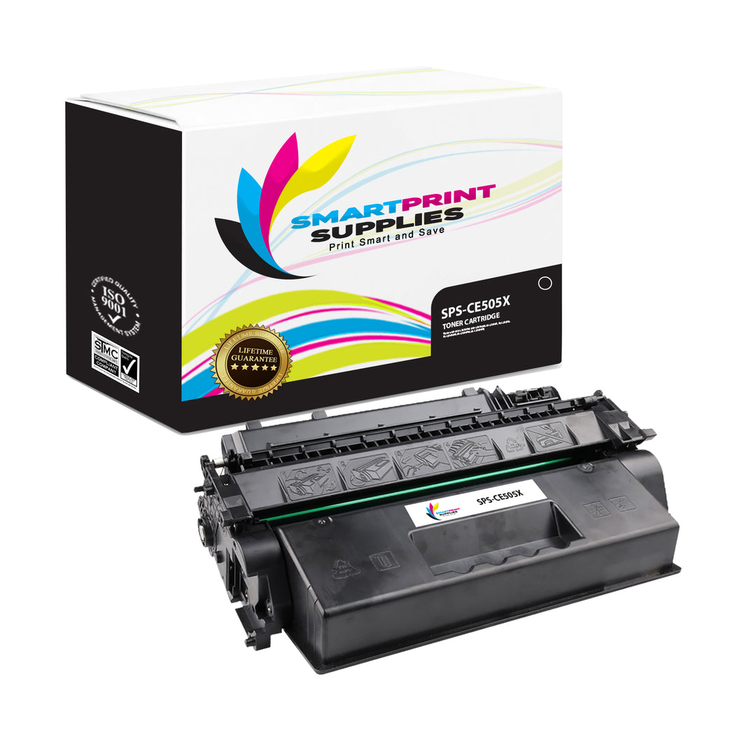 HP 05X CE505X Replacement Black High Yield Toner Cartridge by Smart Print Supplies