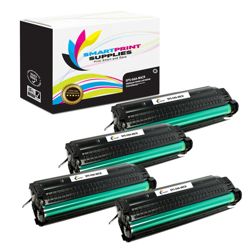 4 Pack HP 06A C3906A Replacement Black MICR Toner Cartridge by Smart Print Supplies