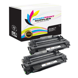 2 Pack HP 11A Black Toner Cartridge Replacement By Smart Print Supplies
