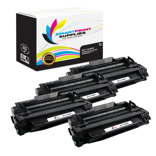 4 Pack HP 11A Q6511A Replacement Black MICR Toner Cartridge by Smart Print Supplies