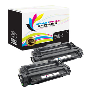 2 Pack HP 11X Black Toner Cartridge Replacement By Smart Print Supplies