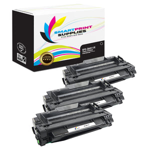 3 Pack HP 11X Black Toner Cartridge Replacement By Smart Print Supplies