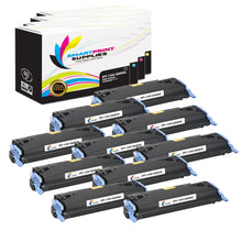 10 Pack HP 124A 4 Colors Toner Cartridge Replacement By Smart Print Supplies