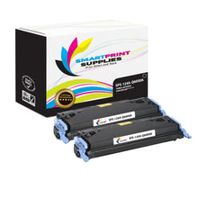2 Pack HP 124A Black Toner Cartridge Replacement By Smart Print Supplies