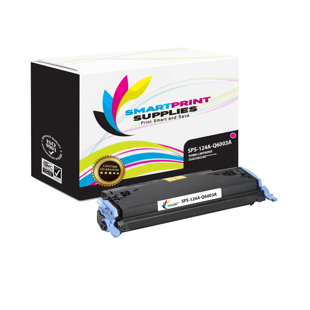 1 Pack HP 124A Magenta Toner Cartridge Replacement By Smart Print Supplies