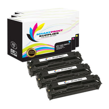 3 Pack HP 125A 3 Colors Toner Cartridge Replacement By Smart Print Supplies