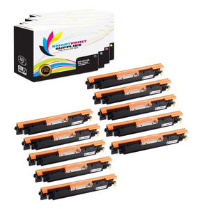 10 Pack HP 126A Replacement 4 Colors Toner Cartridge by Smart Print Supplies /1,200 per black cartridge, and 1,000 per color cartridge Pages