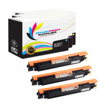 Smart Print Supplies 126A CE311A CE312A CE313A Color Replacement Toner Cartridge Three Pack (1C, 1M, 1Y)