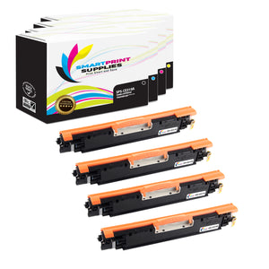 4 Pack  HP 126A Replacement 4 Colors Toner Cartridge by Smart Print Supplies /1,200 per black cartridge, and 1,000 per color cartridge Pages