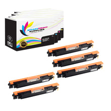 5 Pack HP 126A 4 Colors Toner Cartridge Replacement By Smart Print Supplies