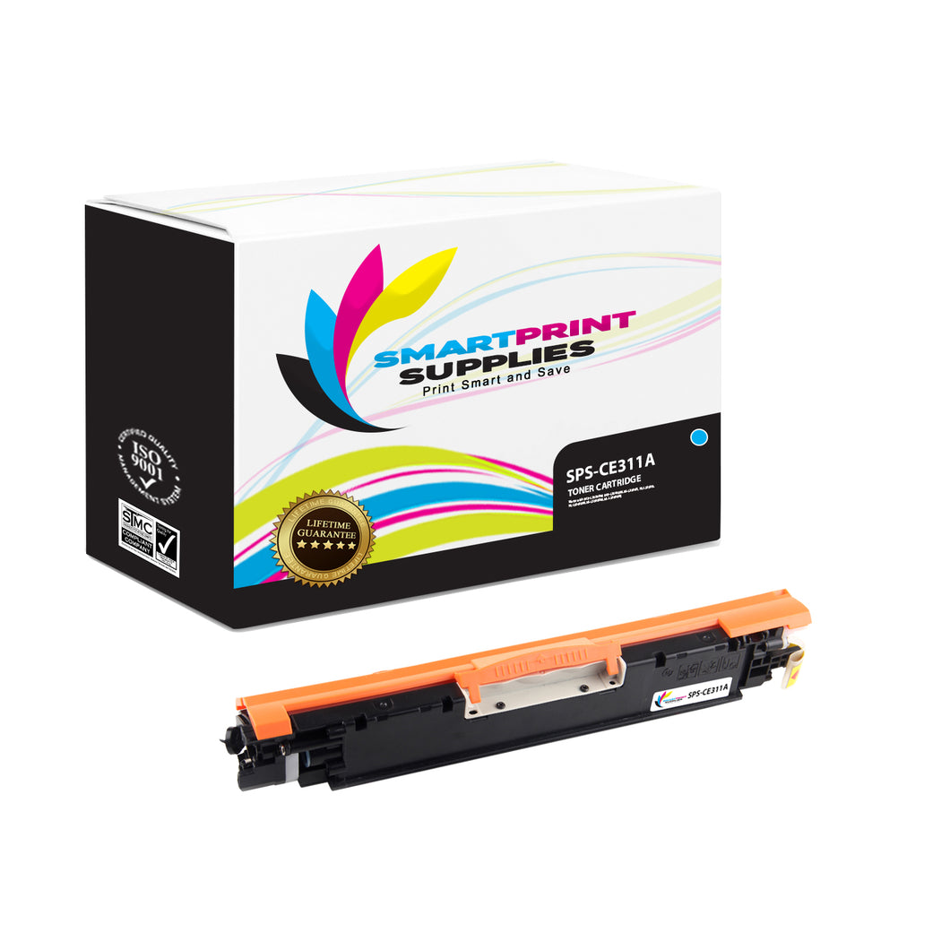 HP 126A CE311A Replacement Cyan Toner Cartridge by Smart Print Supplies