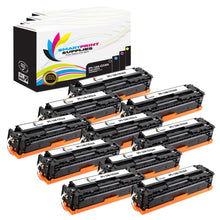 10 Pack HP 128A 4 Colors Toner Cartridge Replacement By Smart Print Supplies