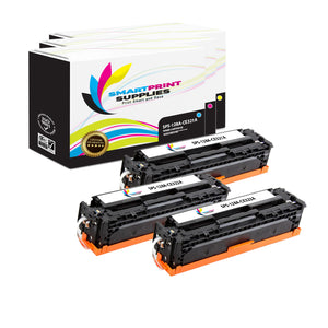 3 Pack HP 128A 3 Colors Toner Cartridge Replacement By Smart Print Supplies