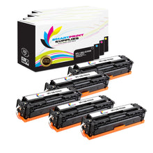 5 Pack HP 128A 4 Colors Toner Cartridge Replacement By Smart Print Supplies