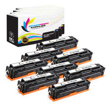 8 Pack HP 128A 4 Colors Toner Cartridge Replacement By Smart Print Supplies