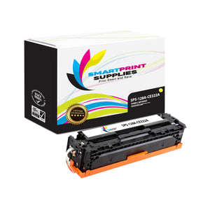 1 Pack HP 128A Yellow Toner Cartridge Replacement By Smart Print Supplies