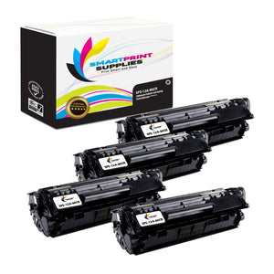 4 Pack HP 12A Q2612A Replacement Black MICR Toner Cartridge by Smart Print Supplies