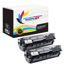2 Pack HP 12X Q2612X Premium Replacement Black Toner Cartridge by Smart Print Supplies