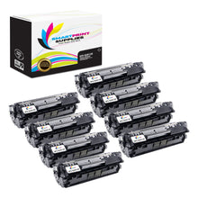 8 Pack HP 12X Black Toner Cartridge Replacement By Smart Print Supplies