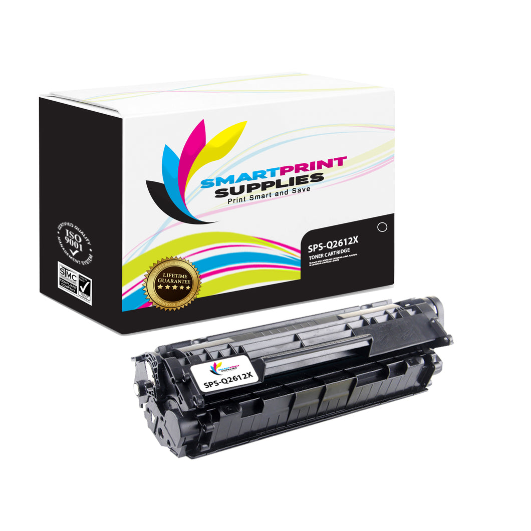 HP 12X Q2612X Replacement Black Toner Cartridge by Smart Print Supplies