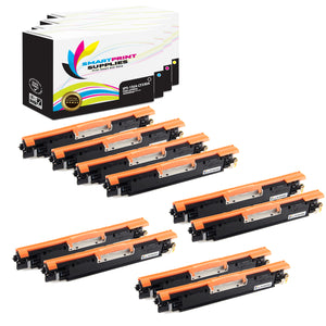 10 Pack HP 130A Replacement (CMYK) Toner Cartridge by Smart Print Supplies