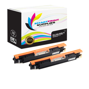 2 Pack HP 130A CF350A Premium Replacement Black Toner Cartridge by Smart Print Supplies