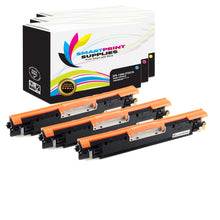 Smart Print Supplies 130A CF351A CF352A CF353A Replacement Color Toner Cartridge Three Pack (1C, 1M, 1Y)