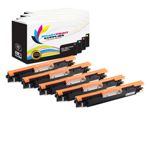 5 Pack HP 130A 4 Colors Toner Cartridge Replacement By Smart Print Supplies