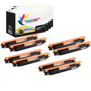 8 Pack HP 130A 4 Colors Toner Cartridge Replacement By Smart Print Supplies