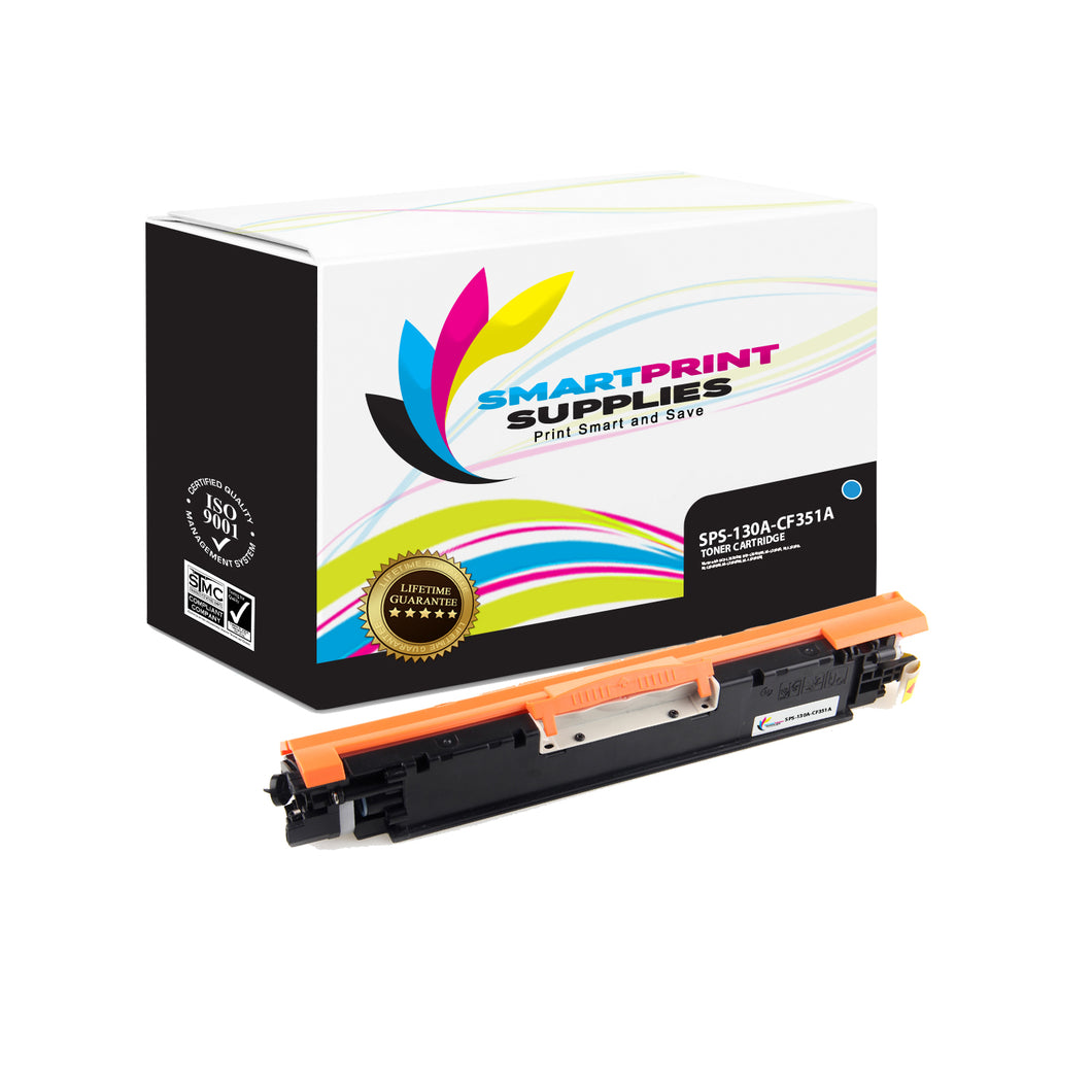 HP 130A CF351A Replacement Cyan Toner Cartridge by Smart Print Supplies