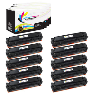 10 Pack HP 131A Replacement 4 Colors Toner Cartridge by Smart Print Supplies /1,600 per black cartridge, and 1,800 per color cartridge Pages