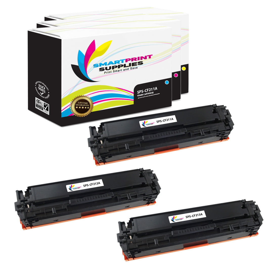 Smart Print Supplies 131A Replacement Colour Toner Cartridge Three Pack