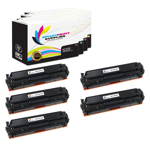 5 Pack HP 131A-131X 4 Colors Toner Cartridge Replacement By Smart Print Supplies