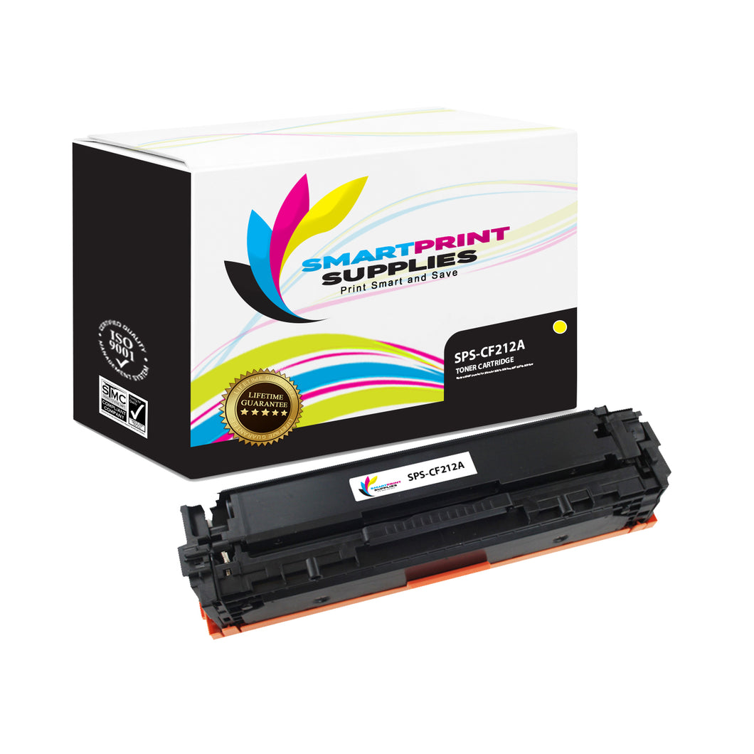 HP 131A-131X CF212A Replacement Yellow Toner Cartridge by Smart Print Supplies