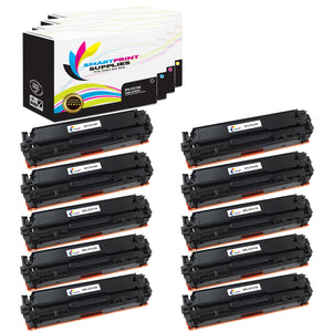 10 Pack HP 131X Replacement 4 Colors Toner Cartridge by Smart Print Supplies /2,400 per black cartridge, and 1,800 per color cartridge Pages