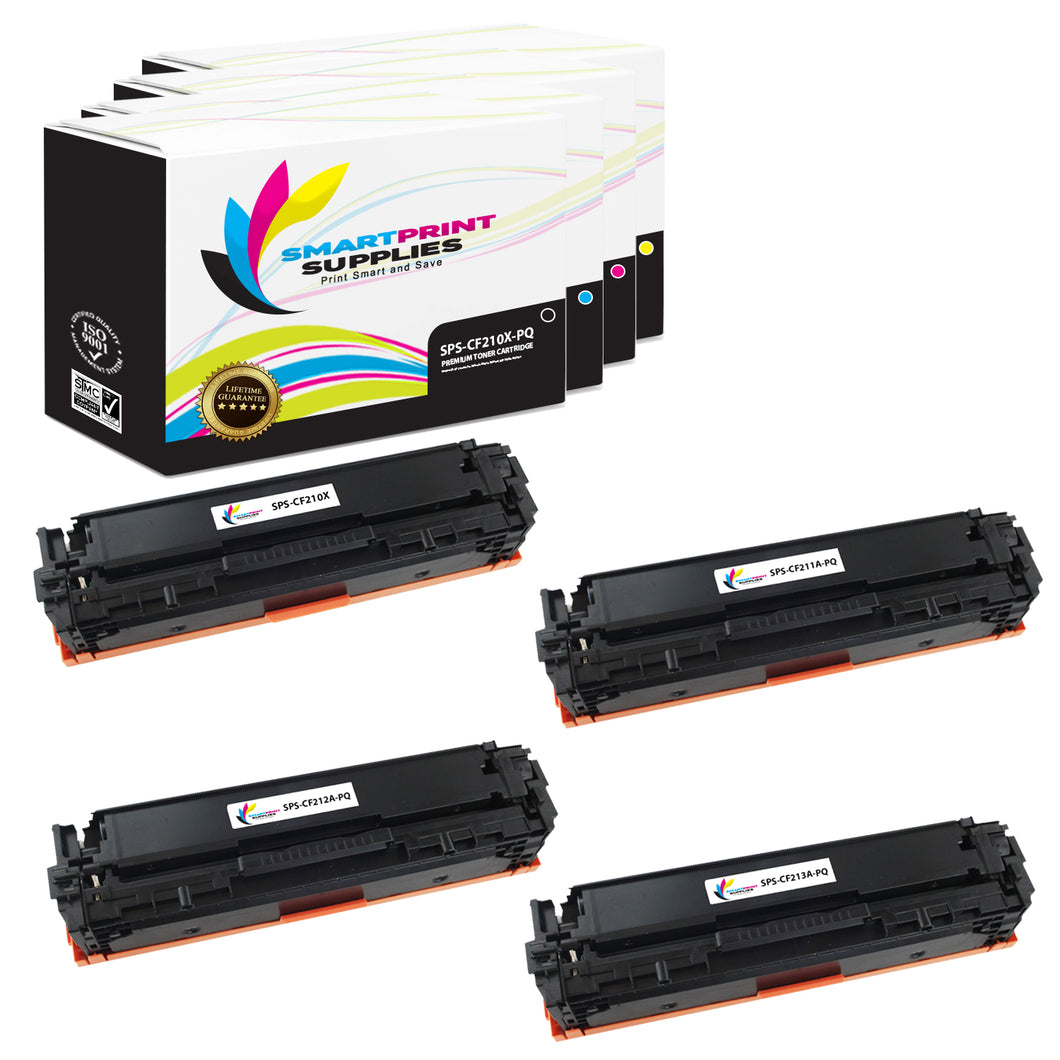 4 Pack HP 131A-131X Premium Replacement 4 Colors Toner Cartridge by Smart Print Supplies /2,400 per black , and 1,800 per color Pages