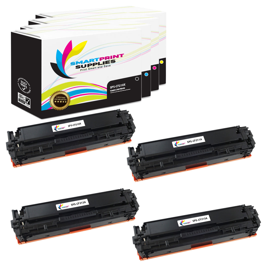 4 Pack HP 131A-131X Replacement (CMYK) High Yield Toner Cartridge by Smart Print Supplies