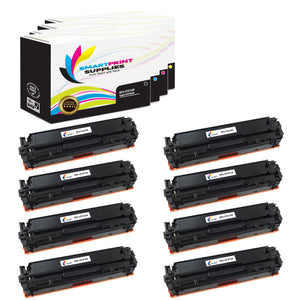 8 Pack HP 131A-131X 4 Colors High Yield Toner Cartridge Replacement By Smart Print Supplies