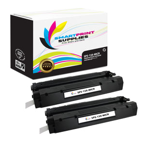 2 Pack HP 13X Q2613X Replacement Black High Yield MICR Toner Cartridge by Smart Print Supplies