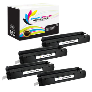 4 Pack HP 13X Q2613X Replacement Black High Yield MICR Toner Cartridge by Smart Print Supplies