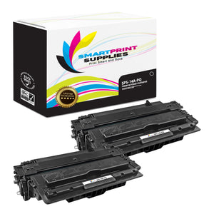 2 Pack HP 14A PQ Premium Replacement Black Toner Cartridge by Smart Print Supplies