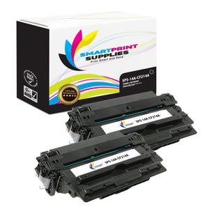 2 Pack HP 14A Black Toner Cartridge Replacement By Smart Print Supplies