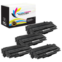 4 Pack HP 14A PQ Premium Replacement Black Toner Cartridge by Smart Print Supplies