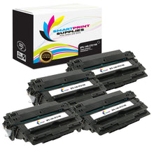 4 Pack HP 14A Black Toner Cartridge Replacement By Smart Print Supplies