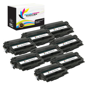 8 Pack HP 14A Black Toner Cartridge Replacement By Smart Print Supplies