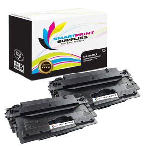 2 Pack HP 14A CF214A Replacement Black MICR Toner Cartridge by Smart Print Supplies