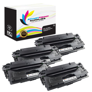 4 Pack HP 14A CF214A Replacement Black MICR Toner Cartridge by Smart Print Supplies