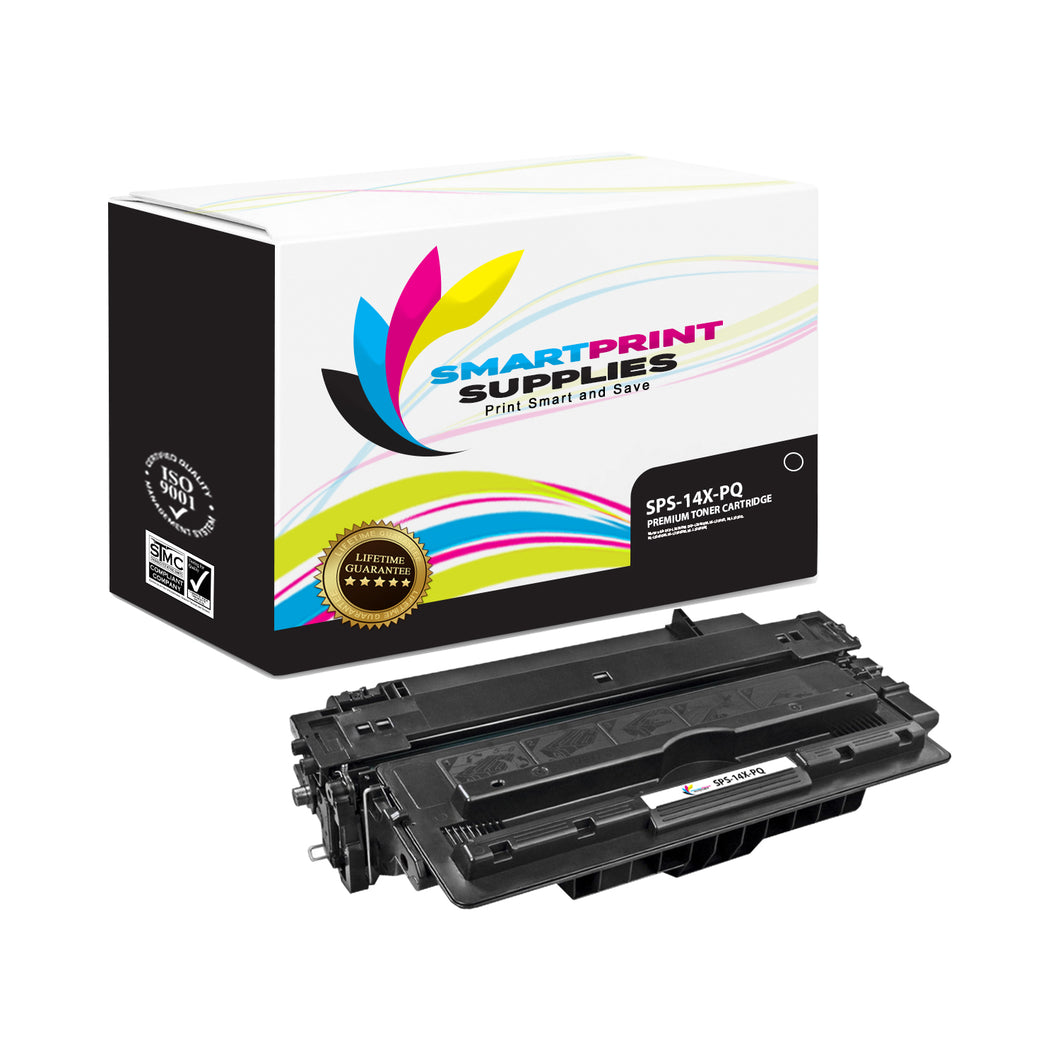 1 Pack HP 14X PQ Premium Replacement Black Toner Cartridge by Smart Print Supplies