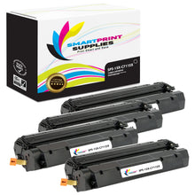 4 Pack HP 15X Black High Yield Toner Cartridge Replacement By Smart Print Supplies