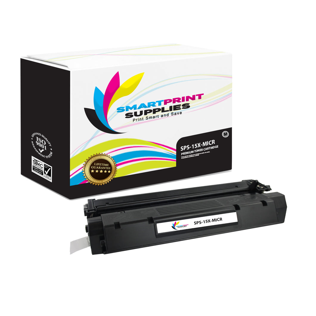 HP 15X C7115X Replacement Black High Yield MICR Toner Cartridge by Smart Print Supplies